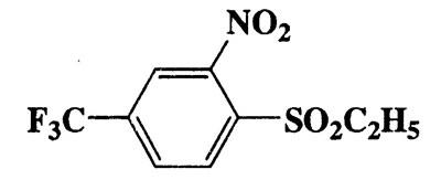 1-(Ethylsulfonyl)-2-nitro-4-(trifluoromethyl)benzene,Benzene,1-(ethylsulfonyl)-2-nitro-4-(trifluoromethyl)-,CAS 364-00-1,283.22,C9H8F3NO4S