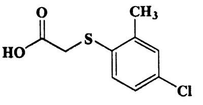 2-(4-Chloro-2-methylphenylthio)acetic acid,Acetic acid,[(4-chloro-O-toly)thio]-,CAS 94-76-8,216.68,C9H9ClO2S