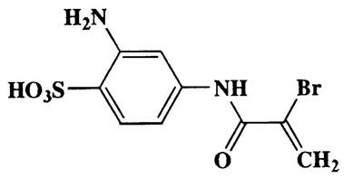 2-Amino-4-(2-bromoacrylamido)benzenesulfonic acid,Benzenesulfonic acid,2-amino-4-[(2-bromo-1-oxo-2-propenyl)amino]-,CAS 58557-59-8,321.15,C9H9BrN2O4S