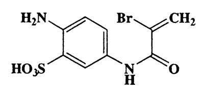 2-Amino-5-(2-bromoacrylamido)benzenesulfonic acid,Benzenesulfonic acid,2-amino-5-[(2-bromo-1-oxo-2-propenyl)amino]-,CAS 42486-84-0,321.15,C9H9BrN2O4S