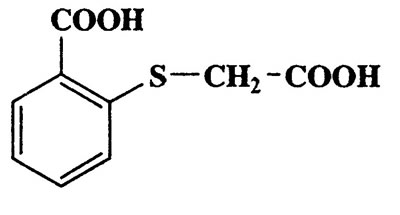 2-(Carboxymethylthio)benzoic acid,Benzoic acid,2-[(carboxymethyl)thio]-,CAS 135-13-7,212.22,C9H8O4S