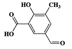 2-Hydroxy-3-methyl-5-formylbenzoic acid,Benzoic acid,5-formyl-2-hydroxy-3-methyl-,CAS 6265-16-3,180.16,C9H8O4