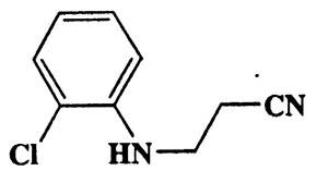 3-(2-Chlorophenylamino)propanenitrile,Propanenitrile,3-[(2-chlorophenyl)amino]-,CAS 94-89-3,180.63,C9H9ClN2
