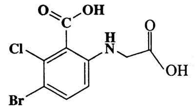3-Bromo-6-(carboxymethylamino)-2-chlorobenzoic acid,Benzoic acid,3-bromo-6-[(carboxymethyl)amino]-2-chloro-,CAS 3030-10-2,308.51,C9H7BrClNO4