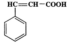 3-Phenylacrylic acid,2-Propenoic acid,3-phenyl-,(E)-,CAS 140-10-3,148.16,C9H8O2