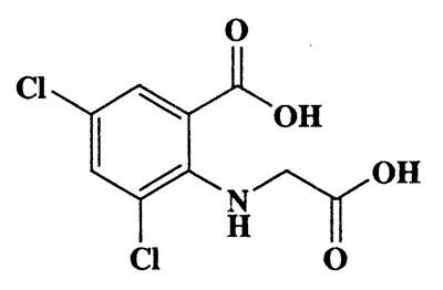 3,5-Dichloro-N-(carboxymethyl)anthranilic acid,2-(carboxymethylamino)-3,5-dichlorobenzoic acid,Benzoic acid,2-[(carboxymethyl)amino]-3,5-dichloro-,CAS 101724-29-2,264.06,C9H7Cl2NO4