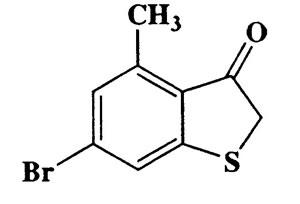 6-Bromo-4-methylbenzo[b]thiophen-3(2H)-one,Benzo[b]thiophene-3-ol,CAS 5340-96-5,243.12,C9H7BrOS