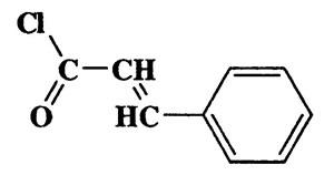 Cinnamoyl chloride,2-Propenoyl chloride,3-phenyl-,CAS 102-92-1,166.6,C9H7ClO