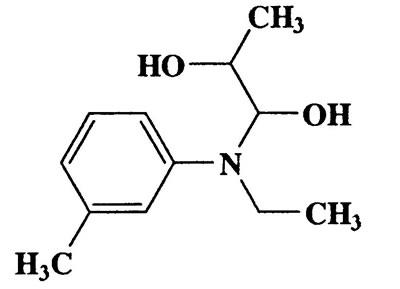 1-(Ethyl(m-tolyl)amino)propane-1,2-diol,209.28,C12H19NO2