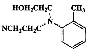 2-Methyl-N-hydroxyethyl-N-cyanoethylaniline,204.27,C12H16N2O