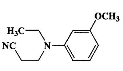 3-(Ethyl(3-methoxyphenyl)amino)propanenitrile,Propanenitrile,3-tethyl(3-methoxyphenyl)amino]-,CAS 66188-29-2,204.27,C12H16N2O