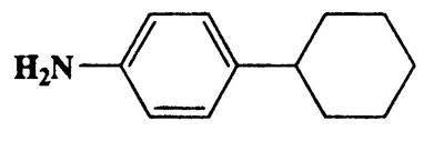 4-Cyclohexylbenzenamine,Benzenamine,4-cyclohexyl-,CAS 6373-50-8,198.25,C12H16O3