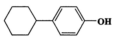 4-Cyclohexylphenol,Phenol,4-cyclohexyl-,CAS 1131-60-8,176.25,C12H16O