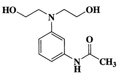 N-(3-(bis(2-hydroxyethyl)amino)phenyl)acetamide,Acetamide,N-[3-[bis(2-hydroxyethyl)amino]phenyl]-,CAS 92-02-4,238.28,C12H18N2O3