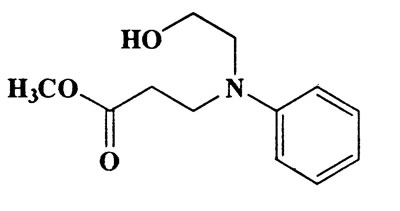 N-hydroxyethyl-N-methoxycarbonylethylaniline,b-Alanine,N-(2-hydroxyethyl)-N-phenyl-,methyl ester,CAS 70817-88-8,223.27,C12H17NO3